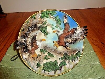 3D Eagle Plate  Plaque, 6 1/4 Inches Across,