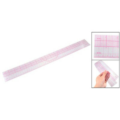 Drawing Tool Squares Angles Parallel Line Soft Plastic Metric Ruler Clear Pin R8