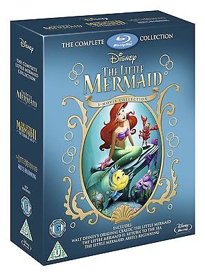 LITTLE MERMAID Trilogy Series 1-3 Movie Collection Disney Part 1 2 3 New Bluray
