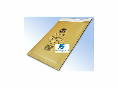 100 JL6 Gold Brown 315 x 450mm Bubble Padded JIFFY AIRKRAFT Postal Bag Envelope