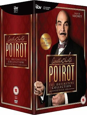 Agatha Christie's Poirot -Complete Tv Series 1-13 New And Sealed Region 2 Uk Dvd