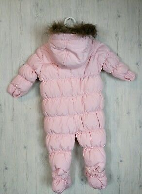 35ebdf2a8b97 PINK PLATINUM GIRLS Size 6 9 Months One Piece Snowsuit Bunting ...