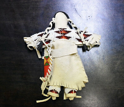 Native American Painted Buckskin Doll, Sioux Nation USA