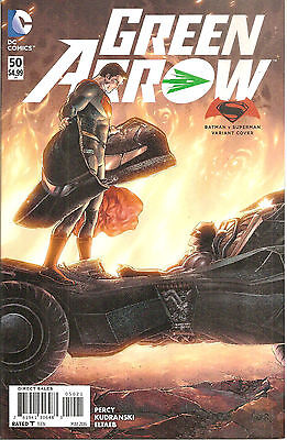Green Arrow #50  Batman Vs. Superman Variant  Cover