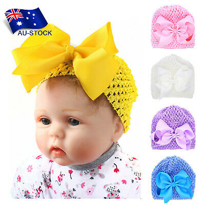 Baby Girl's Warm Beanie Knit Hat Toddlers Infant Hollow Out Bowknot Headwear Cap