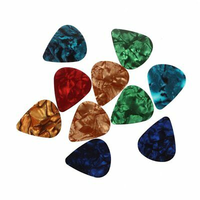 10pcs Stylish Colorful Celluloid Guitar Picks Plectrums 0.71mm R9R1