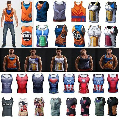 Dragon Ball Z Sports T Shirt Sleeveless Tank Top Vegeta Goku Gym Cycling Top