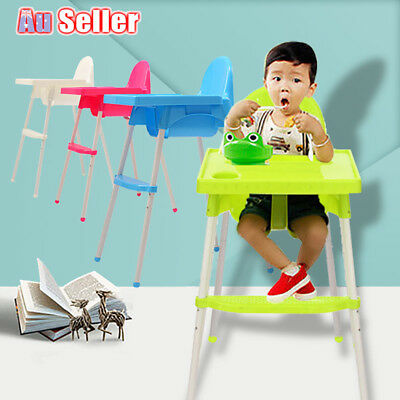 Adjustable High Chair Childcare Table Seat Child Eating Baby Feeding Highchair