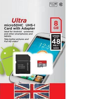 C10 8GB Ultra Micro SD HC Class 10 TF Flash SDHC Memory Card mobile with adapte