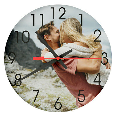 Personalised Custom MDF Wall Clock Any Photo/Logo/Text/Image Printed Best Gift