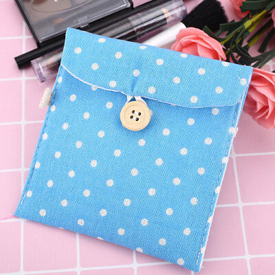 D879FEF Lady Linen Sanitary Napkin Towel Pad Small Mini Bags Case Pouch Holder
