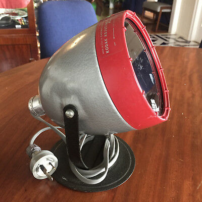 Kodak Adjustable Safelight Lamp Model B & Gbx-2 Filter For Dark Room Photography