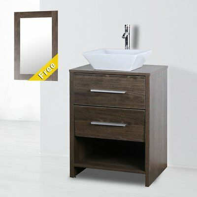 24 inch Modern Bathroom Vanity Cabinet W/ Sink ,Faucet and Pop Up Drain Set