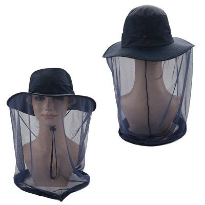 Anti-mosquito Bee Bug Insect Fly Mask Cap Hat with Head Net Mesh.FaceProtec JH