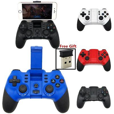 For Android iPhone Bluetooth Wireless Game Controller Gamepad Joystick +Receiver