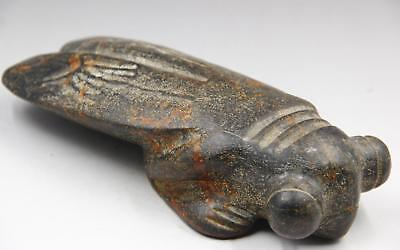 Antique chinese hongshan culture old jade handcarved Cicadas statue