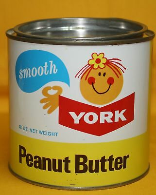 Vintage -York- Peanut Butter- Smooth Canada Packers Ltd. Toronto  Tin/can 48 Oz.
