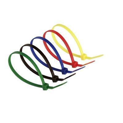 Coloured Cable Ties - Zip Tie Nylon Plastic Various Sizes Colours White Black