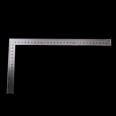 Stainless Steel 15x30cm 90 Degree Angle Metric Try Mitre Square Ruler Scale LTZX