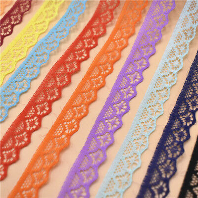 Hot!10 yards Lace Ribbon Width 14MM Trim Fabric Embroidered For Sewing