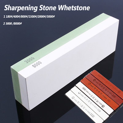 3000/8000 Grit Sharpening Stone Whetstone Grindstone Sharpener Knife Kitchen USA