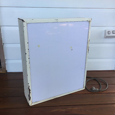 classic industrial metal litebox light box for all manner of uses