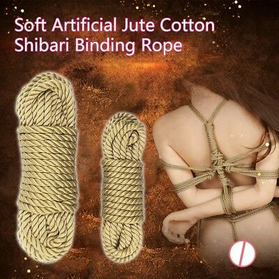 5/10M Synthesis Hemp Jute Bondage Rope Shibari Restraint Couples Bedroom Games