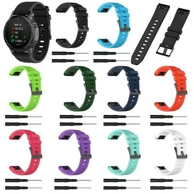 Silicone Watch Band 22mm Sport Wristband Strap For Garmin Fenix 5/Forerunner 935