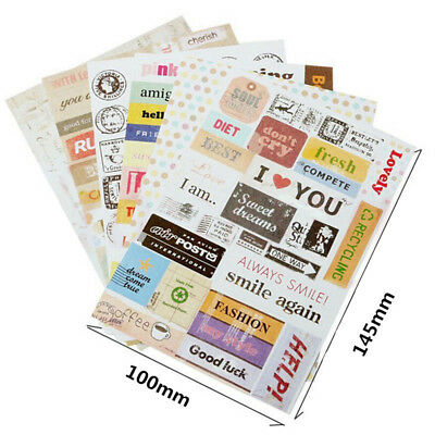 Wholesale Diary Book Decor Paper Planner Stickers Transparent Calendar Scrapbook