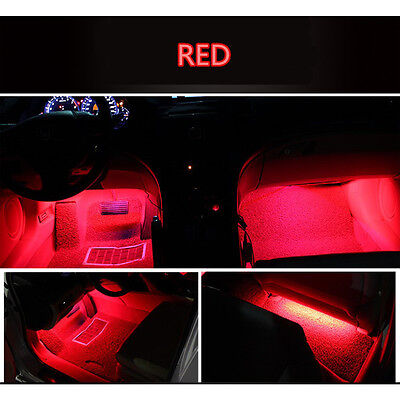 4x 9 LED Red Charge Interior Accessories Foot Car Decorative Lamps LED RED Hot