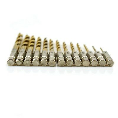 1.5-6.5mm Tungsten Carbide Twist Titanium Drill Bit HSS 1/4 Hex Shank new