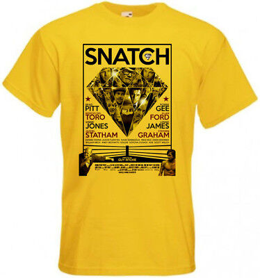 SNATCH v3 T shirt movie poster yellow all sizes S-5XL.