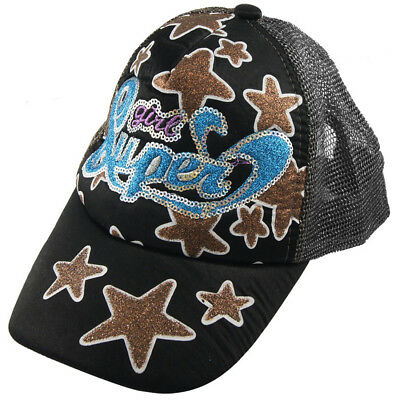 Brown Five Point Star Adjustable Band Mesh Sun Visor Baseball Cap Hat for Women