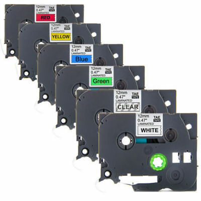 6Pk TZE TAE 231 131 431 531 631 731 Label Tape for Brother P-Touch GL100 PT-H105