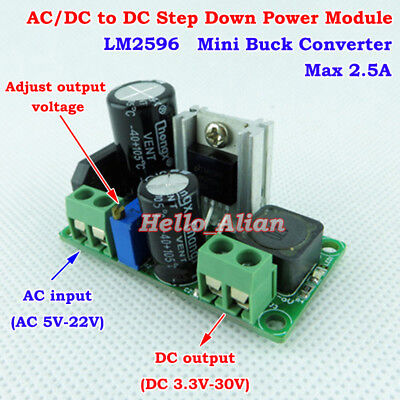 Mini AC/DC to DC 3.3V 5V 9V 12V 24V Buck Converter Rectifier Filter PCB Module