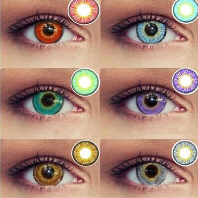 1Pair Women Multicolor Color Contact Lenses for Eye Cosplay Masquerade Commode