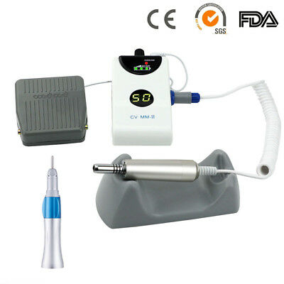Dental Lab Portable Micromotor Brushless Grinding Machine + Straight Nosecone