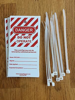 Danger Do Not Operate Lock Out Tags Pack Of 9