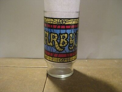 Vintage Arby's Stained Glass Soda Glass