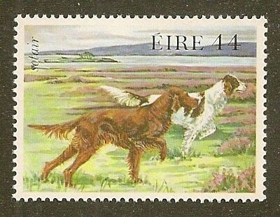 Dog Art Postage Stamp IRISH RED & WHITE SETTER 1983 Ireland Native Breeds MNH