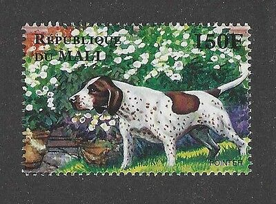 Dog Art Full Body Portrait Postage Stamp Working ENGLISH POINTER Mali Africa MNH