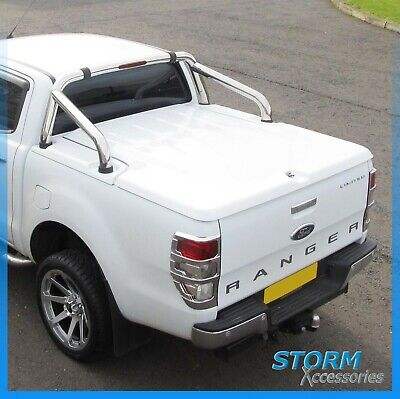 FORD RANGER T6 DOUBLE CAB 2012 ON EGR 3PC LID TONNEAU COVER - Moondust Silver