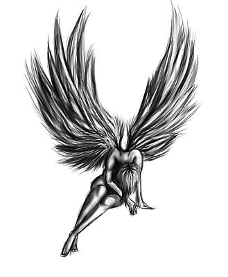 High Quality Supreme Fake Tattoo Fallen Angel Waterproof Temporary Body Art