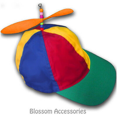 AH10 Propeller Hat Snap Cap Costume Fancy Dress Tweedle Dum Dee Clown Helicopter