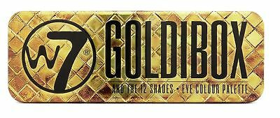 W7 Eyeshadow Palette Goldibox and the 12 Shades Golden Build Different Looks