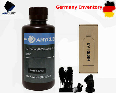 *DE STOCK* ANYCUBIC 405nm UV Sensitive Resin for SLA/LCD 3D Printer 500ml Black