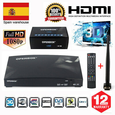 Receptor Digital Satellite OPENBOX V8S Satellite TV Receiver+USB WIFI 1080P PVR