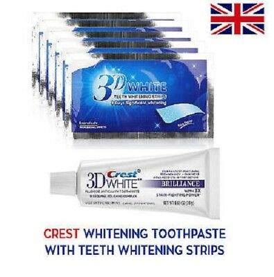 28 X 3D Super Professional Teeth Whitening  Strips + 3D Crestawhite Toothpaste