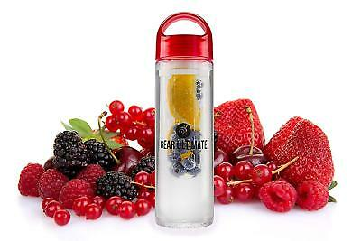 Fruit Infuser Water Bottle Infusing Health Sports Detox Cleaning Handle BPA Free