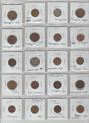 Lot of 20  pfenning coins various denominations